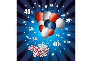 big sale commercial label for memorial day