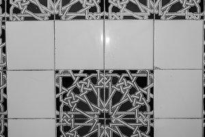 Ceramic Paint Background Black White