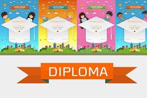 Certificate kids diploma set