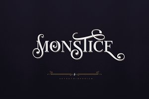 Monstice Family Fonts + EXTRAS
