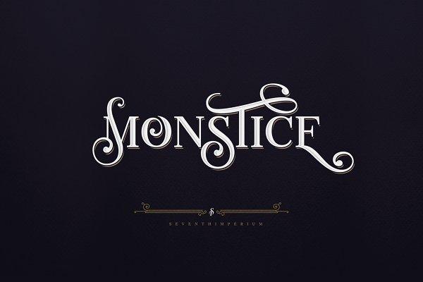 Serif Fonts: seventhimperium - Monstice Family Fonts + EXTRAS