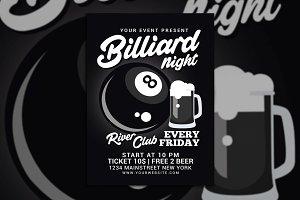 Billiard Night Flyer