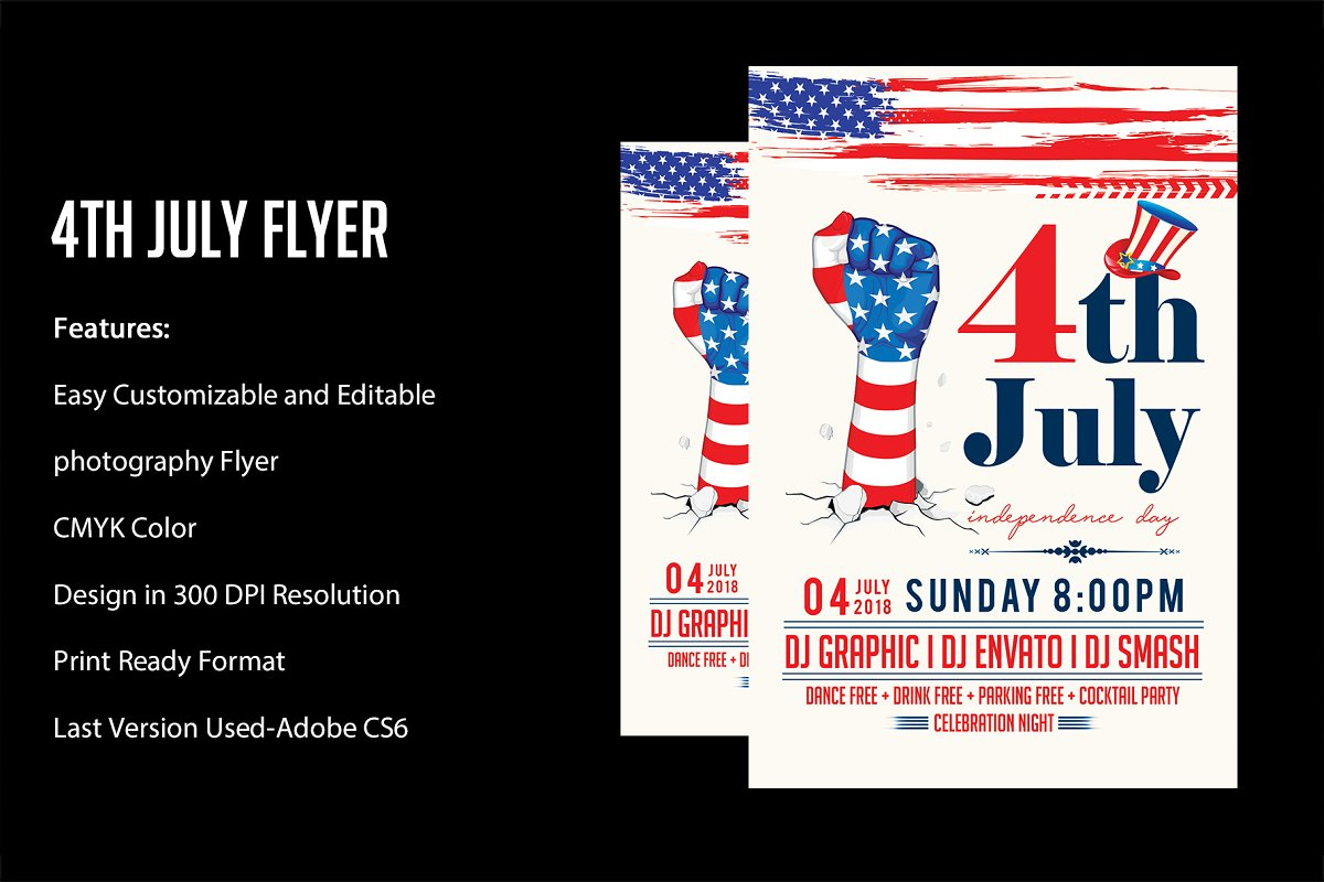 4th July Flyer Template Flyer Templates Creative Market