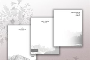 Mountain Letterhead Template