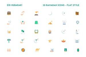 Ramadan Flat Icons