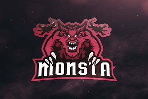 Monsta Sport and Esports Logo