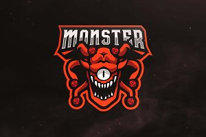 Monster Sport and Esports Logo