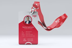 Red Id Card