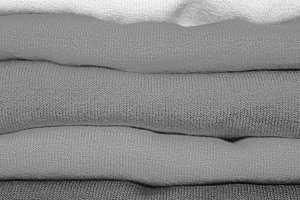 Folded Cloth Detail in Black White