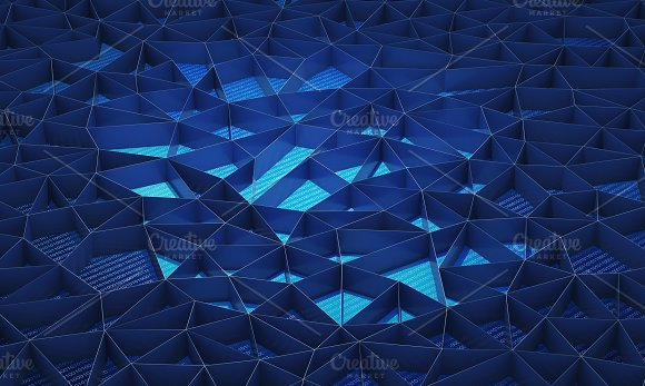 Blue walls background for technology concept, 3d illustration