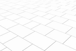 Tile white flooring, texture background, 3d illustration