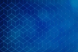Blue lines background in technology concept, abstract illustration