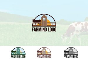 Cow Beef Dairy Farming Logo