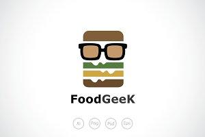 Burger Geek Logo Template