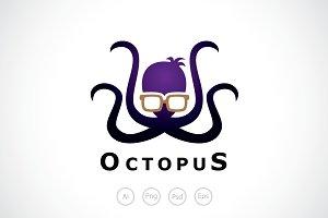 Geek Octopus Logo Template