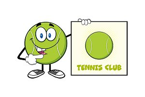 Talking Tennis Ball Character
