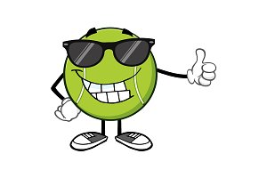 Smiling Tennis Ball Character
