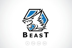 Simple Beast Logo Template