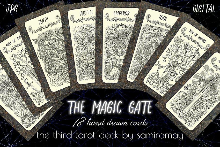 The Magic Gate Tarot Deck ~ Illustrations ~ Creative Market