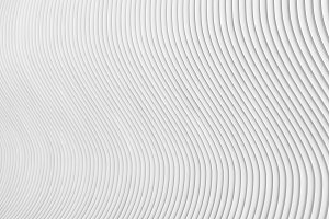 Abstract grey white waves and lines pattern. 3d render