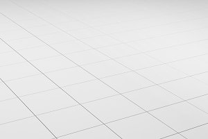 Tile white flooring, texture background, 3d render illustration