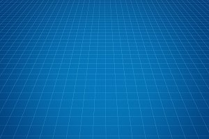 Blue tiles background for technology concept, 3d illustration