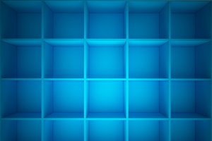3D rendering of abstract cubes, technology background