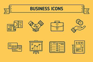 Business, Outline & Colored Icons