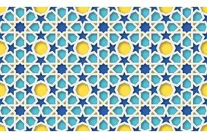 3d arabic background. Islamic geometric pattern.