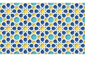 3d arabic background. Islamic geometric pattern.