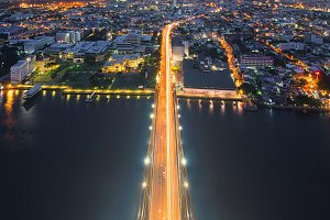 The Top of Rama VIII Bridge, Bangkok, Thailand