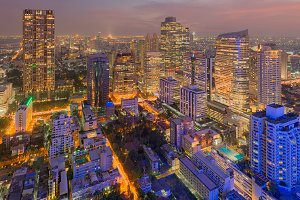 Downtown Bangkok, Skyscrapers, Thailand