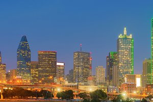 Downtown Dallas, Texas, USA