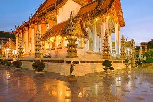 Wat Suthat at Sunset, Bangkok, Thailand
