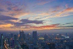 Beautiful Clouds above Bangkok, Thailand