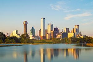 Reflection of Dallas City, Texas, USA