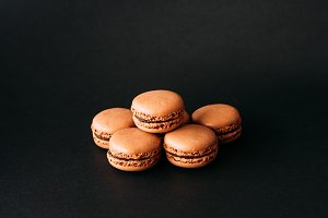 Close up of macarons isolated