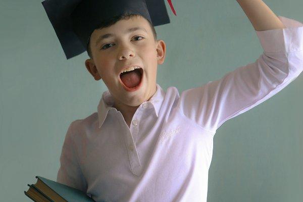 school teenager kid in graduation c…
