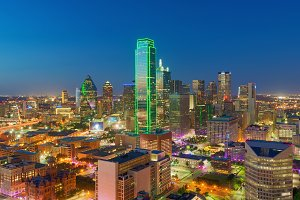 Skyscrapers, City of Dallas, Texas, USA
