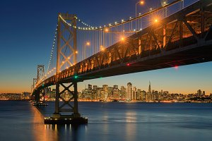 The Bay Bridge, San Francisco, Californa, USA