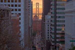 San Francisco road, Cable car route, Bay Bridge, California, USA