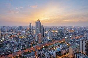 Buildings, Cityscape, Skyline of Bangkok, Thailand