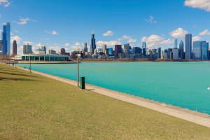 Michigan lake in Chicago City, illinios, USA