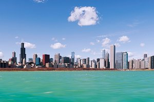 Skyline of Chicago city, illinois. USA