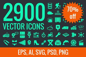 2900 vector icons