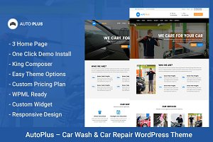 AutoPlus – Car Wash WordPress Theme