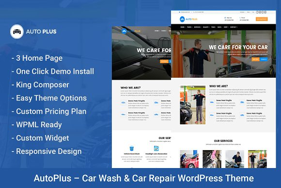 AutoPlus Car Wash WordPress Theme