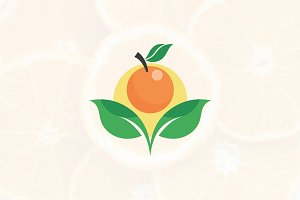 Organic Fresh Orange Fruit Symbol