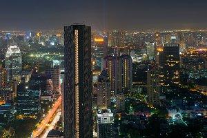 Skyscrapers in Sathorn District , Bangkok, Thailand