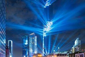 MahaNakhon Bangkok Rising, Lasers show, Bangkok, Thailand